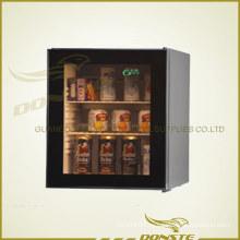 Deluxe стеклянный дверной холодильник для гостиницы