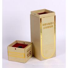 Caja de regalo de la cartulina de la botella de cristal del champán del vino de papel decorativo