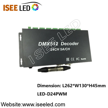 Decodificador do diodo emissor de luz de DC12-24V 24CH PWM DMX