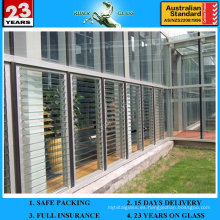 4-6mm Clear Louver Glass con AS / NZS2208: 1996