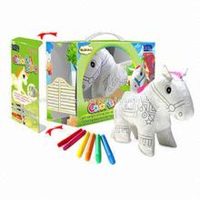 Animal Stuffed High Quality Plush Painting Toys for Kid with 6-piece Color Pen