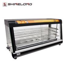 Vitrines chaudes d'affichage de nourriture chaude de vitrine de 3/4 couche commerciale