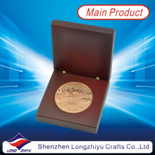 Round Golf Sports Champion Award Metal Copper Coin Custom Badge Medallion 2d Coins for Commemorative (LZY1300008)