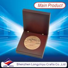 Round Golf Sports Campeão Prêmio Metal Copper Coin Custom Badge Medalhão 2d moedas para comemorativas (LZY1300008)