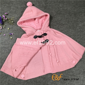 High Quality Cotton Hooded Sweater Cardigan Poncho