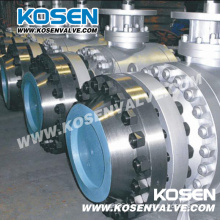 3 Pieces Flanged Trunnion Ball Valves with Gear Box