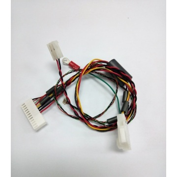 Teflon wire harness with core ferrite