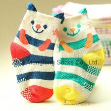 Brazalete 3D dibujos animados Cute Kid calcetines con puntos Anti-Skip