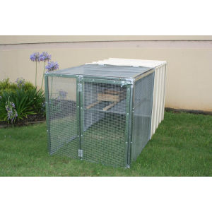 Rantaian link boxed dog run dog kennel