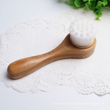 Nuevo bambú largo Facial masaje limpieza cepillo Facial