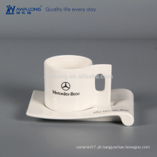 210ml Personalizou o Nome Design Personalizou o Copo e o Saucer de Café, Taça Cerâmica Fina com Titular de Biscoito