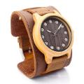Nova Proteção Ambiental Japão Movimento Relógio De Moda De Madeira Bg454