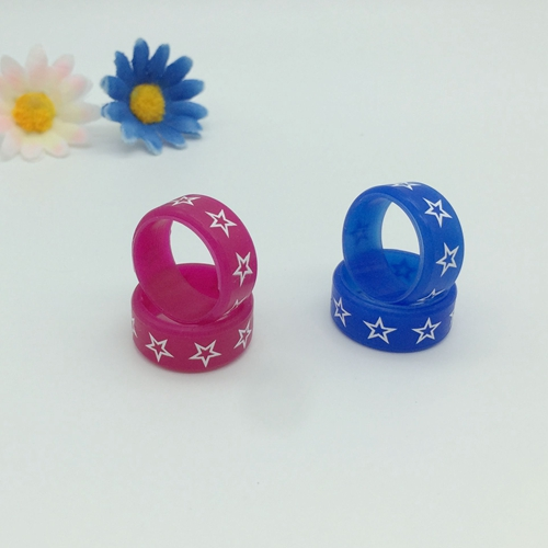 Silicone silk print finger bands