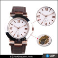 mechanical watch stainless steel case back watch FOR men