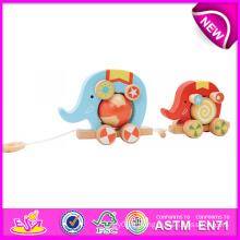 Jouet en bois beau jouet et pousser pour les enfants, jouet en bois Jouet bricolage pousser pour les enfants, jouet en bois design mignon pour bébé W05b075