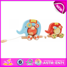 Lovely Toy Wooden Pull and Push Toy for Kids, Wooden Toy DIY Push Toy for Children, Cute Design Wooden Pull Toy for Baby W05b075