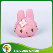 Eco-friendly Custom Silicone luce rosa portamonete