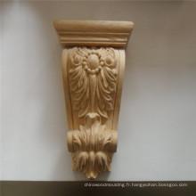 Corbeau Romain Floral en bois massif sculpté en bois