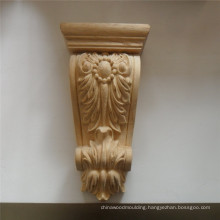 Solid Wood Carved Wood Floral Roman Corbel
