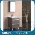 Muebles de baño de la melamina del piso con el gabinete del espejo