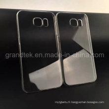 Cas de téléphone portable transparent de 0.5mm pour l'étui mobile de Samsung Galaxy S6