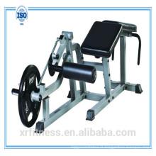 Équipement de gymnastique chargé par plaque Machine horizontale de courbure de jambe XR750