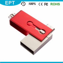 Red Tiny 2 in 1 USB-Flash-Pendrive 8GB OTG für Werbegeschenke