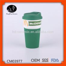 La cocina moderna diseña la taza de cerámica blanca taza de cobre que afeita la taza