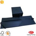 Folding Black Gift Box with UV Logo