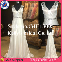 Vestidos formales de fiesta New Arrive Special Design Cap Sleeve Off-white Evening Dress
