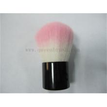 Rosa macio cabelo moda kabuki escova