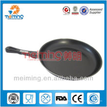 round non stick cast iron frying pan with pp handle