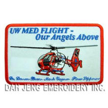 Helicopter Embroidered Patch