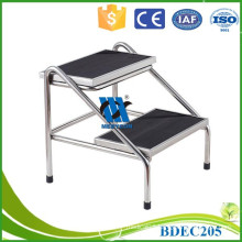 Two level metal stool stainless steel stool