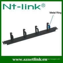 4 piezas de metal anillo de gestión de cables flexible