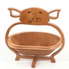 cesta de comida de bambu decorativo