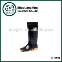 Siente la lluvia del buen hombre zapatos botas de lluvia para lluvia Botas fondo plano moda W-R0081 hombre