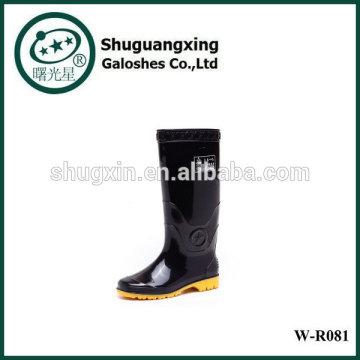Se sentant pluie de bon homme chaussures bottes de pluie pour, bottes pluie fond plat mode W-R0081 l'homme de l'homme