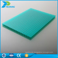 Fine light transmission tinted polycarbonate hollow sun shade sheet
