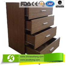 Cabinet de chevet de casier en bois d'hôpital