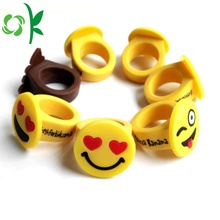 Emoji Emoticons Siliconen Ringen Cartoon Leuke kinderen Ringen