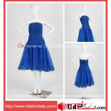 Gorgerous Royal Blue Party Dress Lace Tea-Length Prom Dress (TC08086)