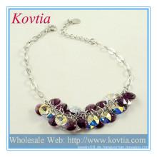 Modische Perlen Silber Schmuck Charme Großhandel Silber Kette Armband Schmuck