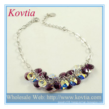 Fashionable beads silver jewelry charms wholesale silver chain bracelet jewellery