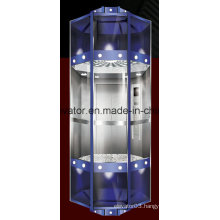 Diamond Shape Panoramic Elevator with Capsule Cabin