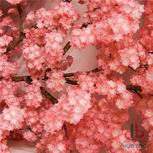 Romantic-style-artificial-indoor-silk-Japanese-cherry 3