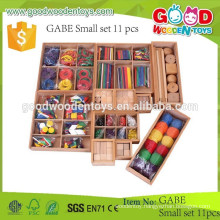 classical continued selling gabe toys OEM wooden gabe 11 pcs sets kids educational toys in high quality