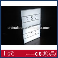 2015 nuevo diseño de cartas personalizadas caja de luz con luz Led