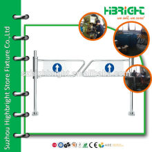 mechanical swing gate barrier for supermarket entrance