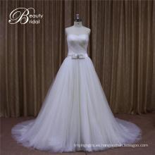 Vestido nupcial del vestido de novia del tul de Sweetheart